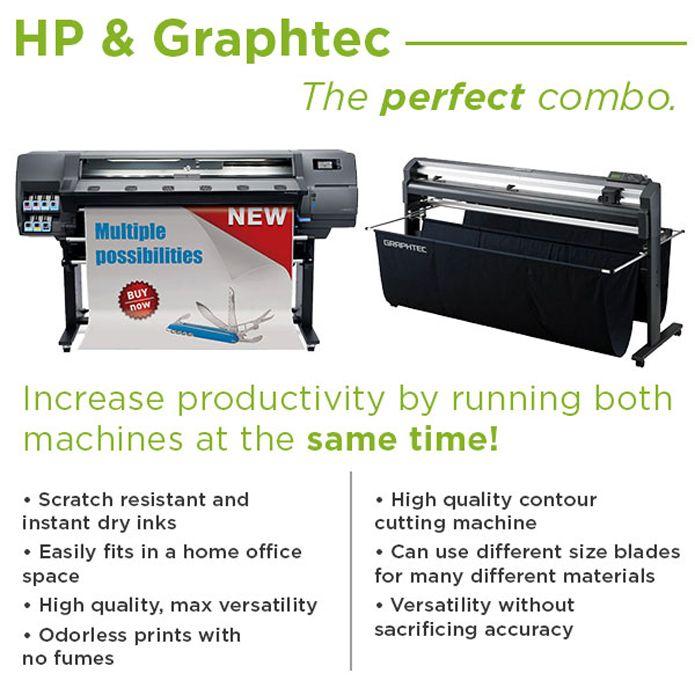 HP 115 Latex Print & Cut with Graphtec FC8600 Cutter