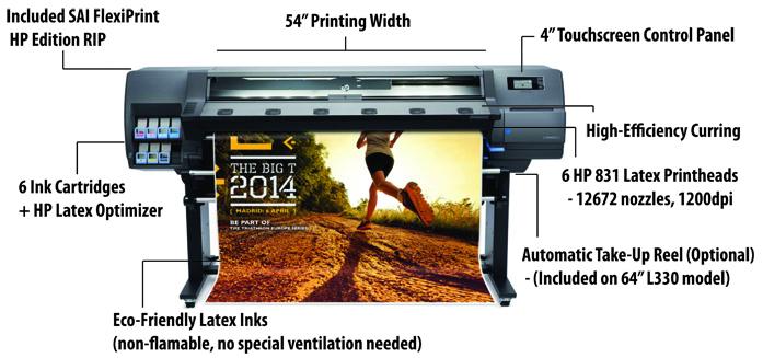 HP Latex 310 printer features
