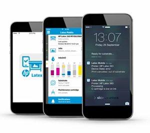 HP 110 Latex Printer Mobile App